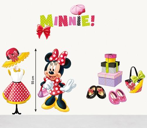 ... Wandtattoo Disney Minnie Mouse Fashion Kinderzimmer Aufkleber Sticker