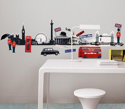 wandtattoo london skyline england aufkleber home sticker. Black Bedroom Furniture Sets. Home Design Ideas