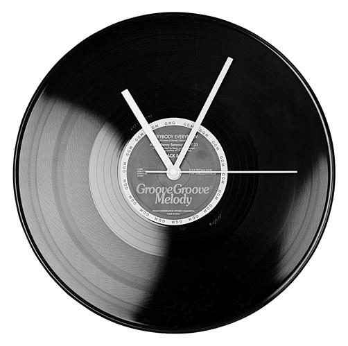 Wanduhr-LP-Schallplatte-Retro-Musik-DJ-80er-70er-Plattenspieler-Uhr-Design-Rock