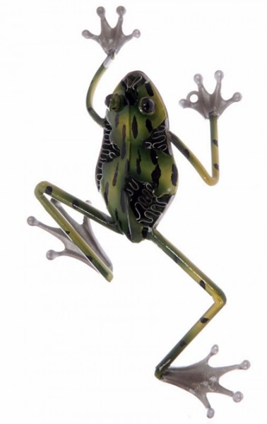 metall wanddeko frosch frog wand deko f r drinnen und drau en deko metallfrosch ebay. Black Bedroom Furniture Sets. Home Design Ideas