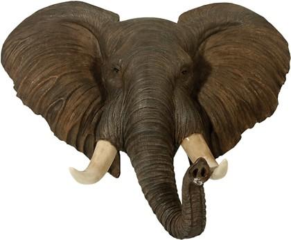 Elefanten Wanddeko Elefantenkopf XXL Wandrelief Wild Afrika Jagd ...