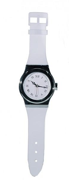 wanduhr watch schwarz oder wei in 2 gr en uhr xxl armbanduhr f r die wand ebay. Black Bedroom Furniture Sets. Home Design Ideas