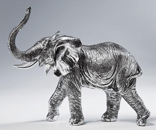 deko figur elefant elephant afrika indien zirkus zoo tierpark tiere metall optik ebay. Black Bedroom Furniture Sets. Home Design Ideas