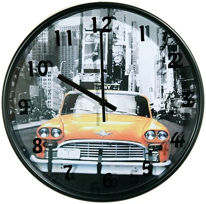 wanduhr new york city yellow cab amerika usa uhr united states ny times square ebay. Black Bedroom Furniture Sets. Home Design Ideas