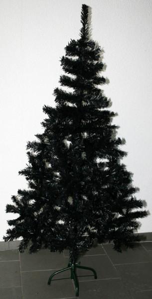 k nstlicher weihnachtsbaum schwarz weihnachten tannenbaum gothic black dark ebay. Black Bedroom Furniture Sets. Home Design Ideas