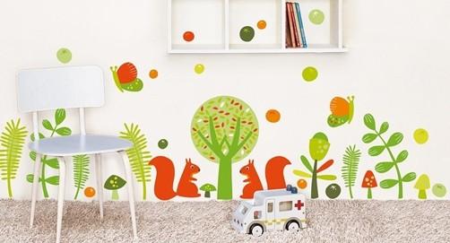 Kinderzimmer wand wald die neuesten innenarchitekturideen for Kinderzimmer wald