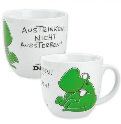 sheepworld xxl dino tasse austrinken nicht aussterben geschenk kaffeebecher ebay. Black Bedroom Furniture Sets. Home Design Ideas