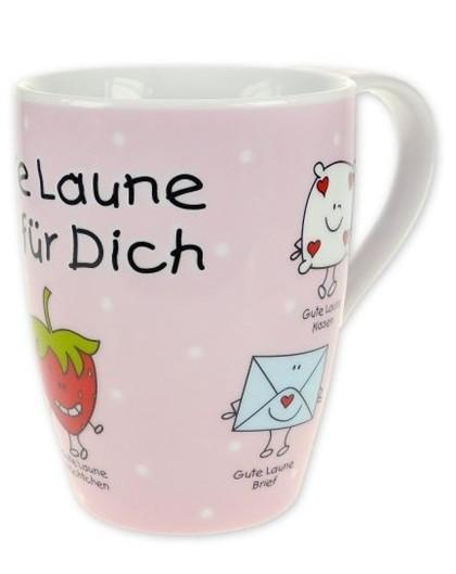 blinies gute laune tasse f r dich rosa pink kaffeetasse kaffeebecher sheepworld ebay. Black Bedroom Furniture Sets. Home Design Ideas
