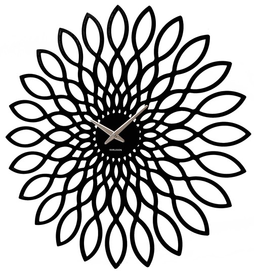 designer karlsson wanduhr sunflower 60 cm schwarz uhr klassischer stil design ebay. Black Bedroom Furniture Sets. Home Design Ideas