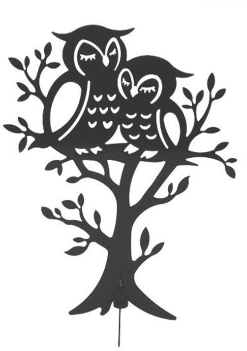 metall schmuckbaum mit eule schwarz o wei schmuckst nder schmuckhalter ebay. Black Bedroom Furniture Sets. Home Design Ideas