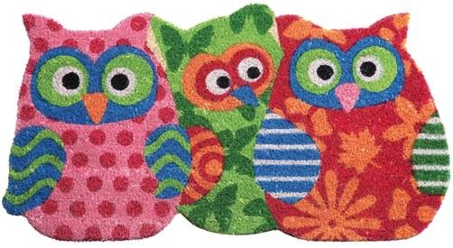 kokos fu matte owl sisters eule uhu eulen fu abstreifer fu abtreter door mat ebay. Black Bedroom Furniture Sets. Home Design Ideas
