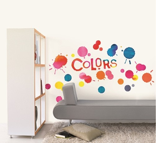 wandtattoo graffiti colors cool farben deko homesticker aufkleber sticker ebay. Black Bedroom Furniture Sets. Home Design Ideas