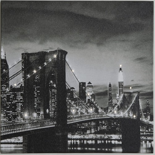 leuchtendes led bild brooklyn bridge new york br cke 30 x. Black Bedroom Furniture Sets. Home Design Ideas