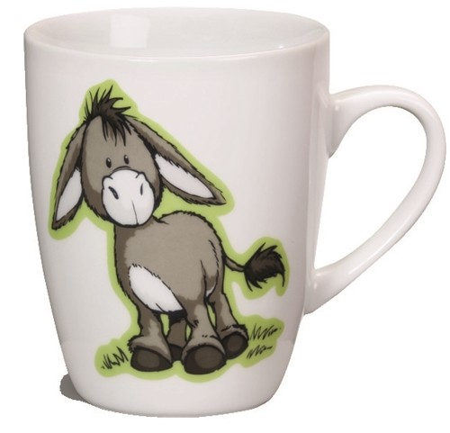 nici tasse esel wei weiss kaffeetasse kaffeebecher becher porzellan donkey ebay. Black Bedroom Furniture Sets. Home Design Ideas