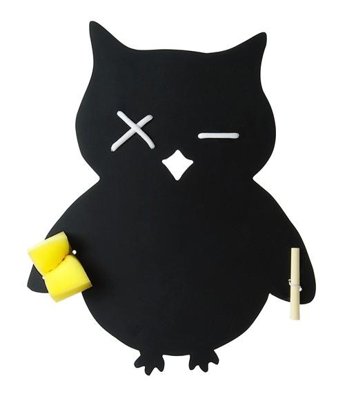 wandtafel eule kreidetafel tafel owl kinder kinderzimmer inkl kreide schwamm ebay. Black Bedroom Furniture Sets. Home Design Ideas
