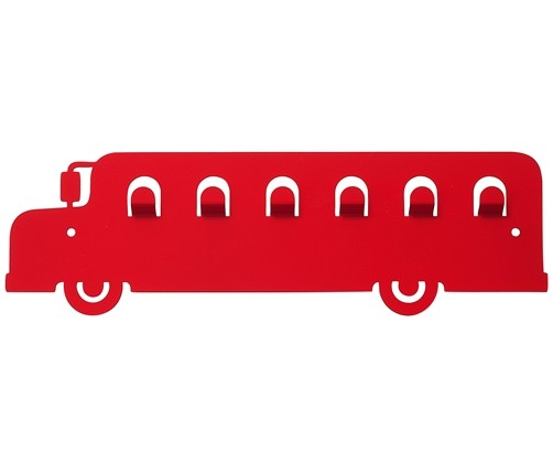 kinder wandgarderobe bus in versch. farben garderobe kleiderhaken