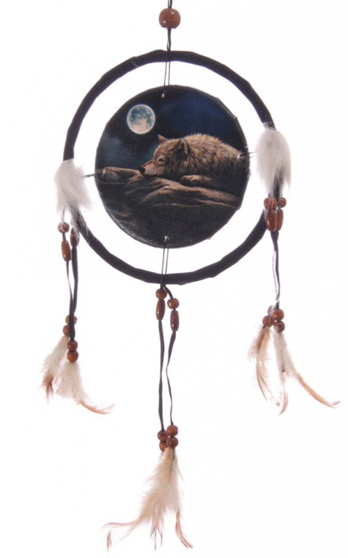 traumf nger ruhender wolf versch gr en indianer deko dreamcatcher w lfe ebay. Black Bedroom Furniture Sets. Home Design Ideas