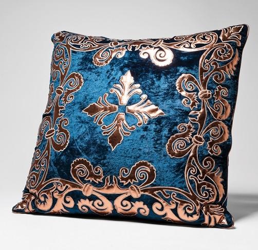 elegantes kissen noble blue 60 x 60 samt 2 modelle. Black Bedroom Furniture Sets. Home Design Ideas