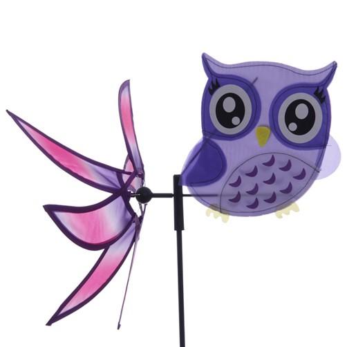 windmühle eule mit windrad in versch. farben eulen owl garten, Garten ideen