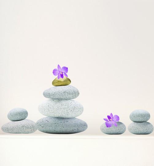 Wandtattoo Zen Steine Wandsticker Zen Garten  eBay
