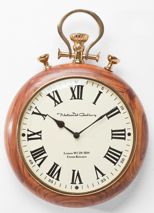 holz wanduhr pocket taschenuhr design retro vintage uhr wood nostalgisch ebay. Black Bedroom Furniture Sets. Home Design Ideas