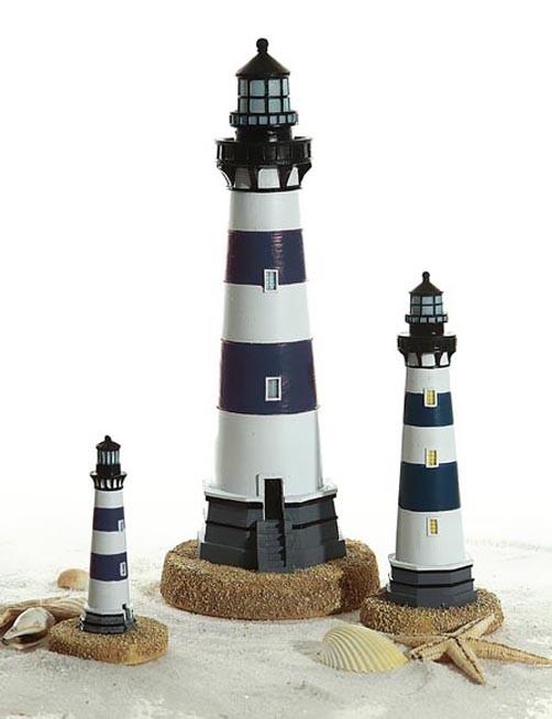 deko leuchtturm in versch gr en maritime deko reise strand urlaub meer nordsee ebay. Black Bedroom Furniture Sets. Home Design Ideas