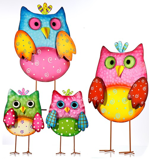 deko metall figur eule 25cm dekofigur dekoeule eulen owl uhu metallfigur sommer ebay. Black Bedroom Furniture Sets. Home Design Ideas