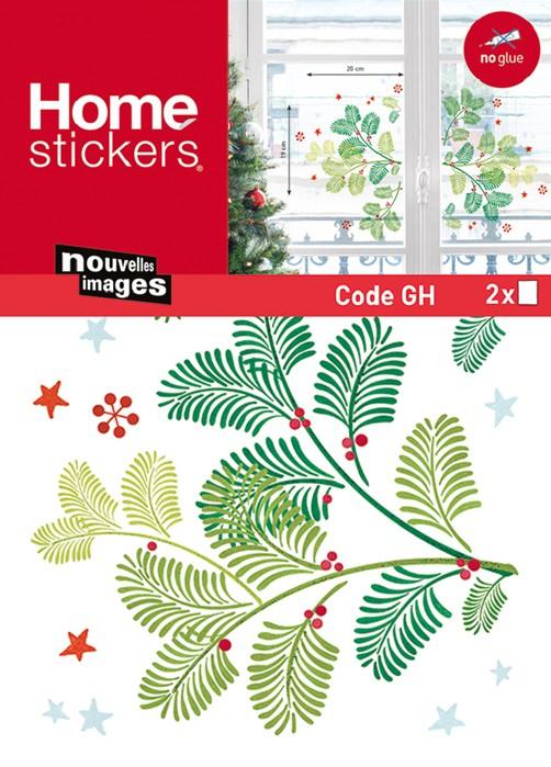 Xmas fenstersticker tannenbaum zweig tannenast advent for Fensterfolie weihnachten