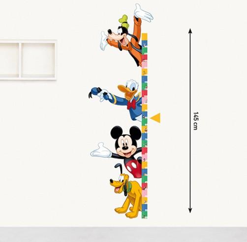 kinder wandtattoo disney messlatte mickey mouse kaufen. Black Bedroom Furniture Sets. Home Design Ideas