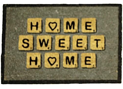 kokos fu matte home sweet home versch farben 40 x 60 cm. Black Bedroom Furniture Sets. Home Design Ideas