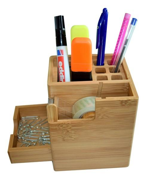 schreibtisch set aus bambus wohnen b ro auf dem schreibtisch. Black Bedroom Furniture Sets. Home Design Ideas