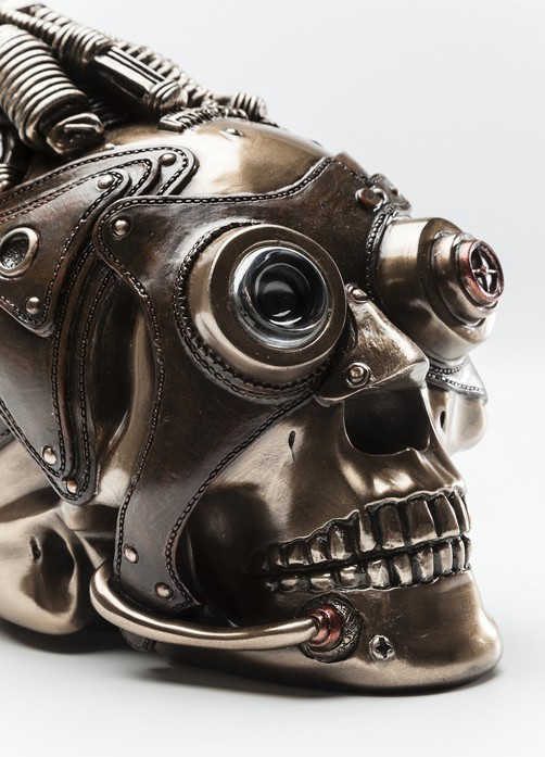 deko objekt steampunk skull geschenke f r ihn. Black Bedroom Furniture Sets. Home Design Ideas