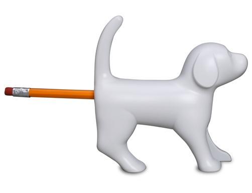 Bleistiftspitzer bellender Hund