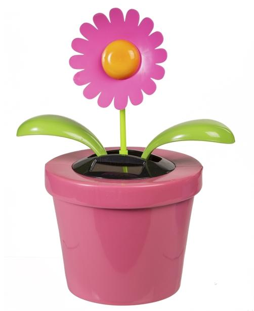 Bewegliche Solar Blume Pink Bunt