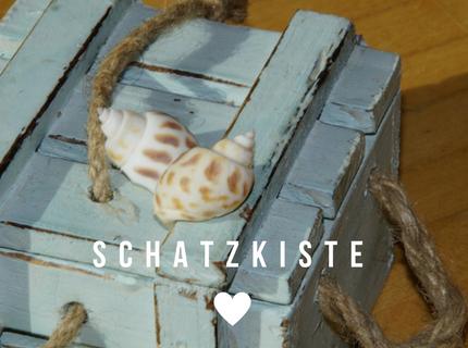 Schatzkiste hellblau Shabby-Look zum maritimen Wohnstil