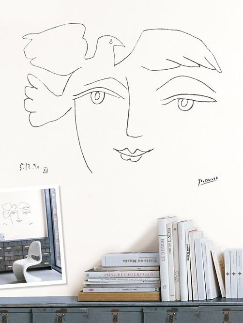 Wandaufkleber Picasso Gesicht des Friedens
