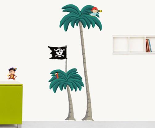 xxl wandtattoo pirat ok 4 kids deko. Black Bedroom Furniture Sets. Home Design Ideas