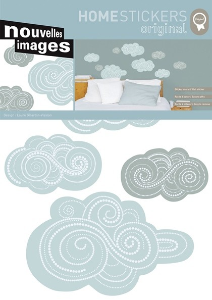 wandtattoo wolken wohnen dekosticker wandtattoos. Black Bedroom Furniture Sets. Home Design Ideas