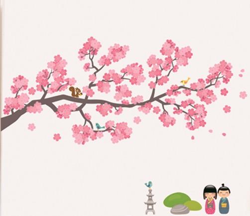 xxl kinder wandtattoo japanischer garten ok 4 kids wandtattoos. Black Bedroom Furniture Sets. Home Design Ideas