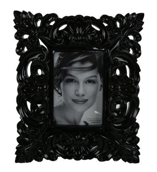 bilderrahmen barock schwarz oder weiss 10 x 15 cm wohnen wanddeko bilderrahmen. Black Bedroom Furniture Sets. Home Design Ideas