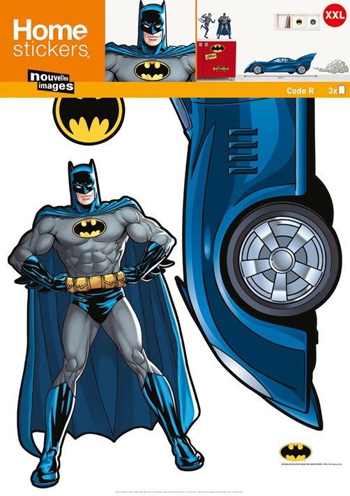 Xxl kinder wandtattoo batman mit batmobil ok 4 kids deko for Batman wandtattoo