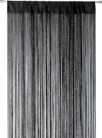 Türvorhang Ikea fadenvorhang türvorhang fadengardine 100x250cm waterfall schwarz ebay